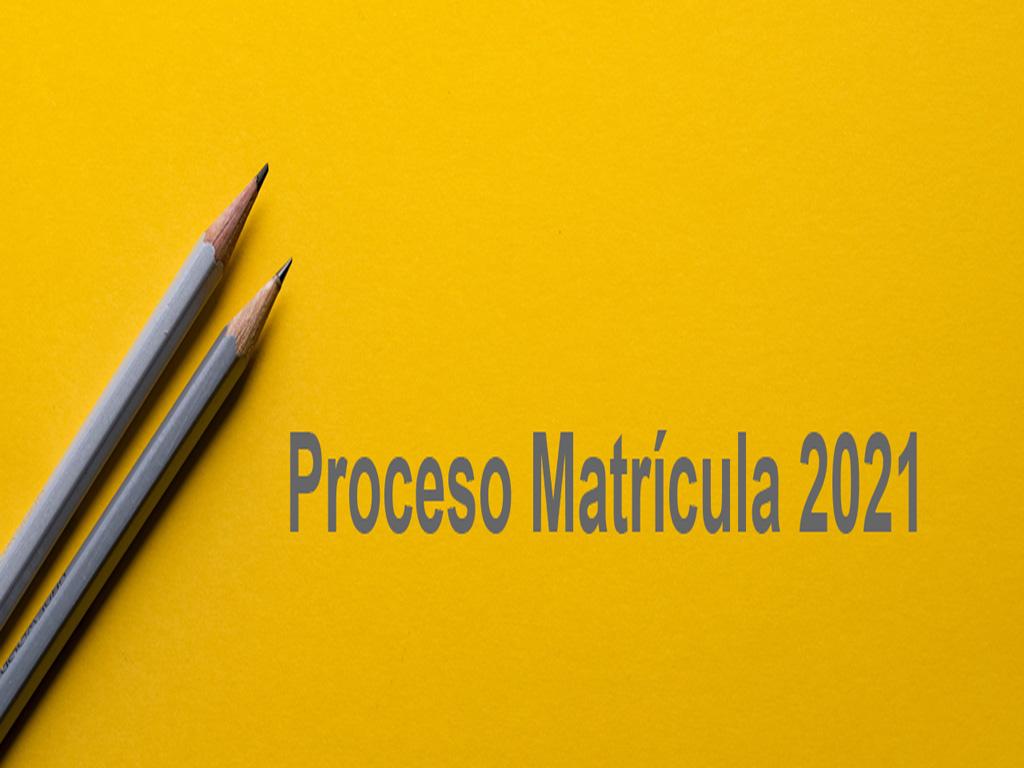 Colegio Calasanz | Proceso Matrícula 2021